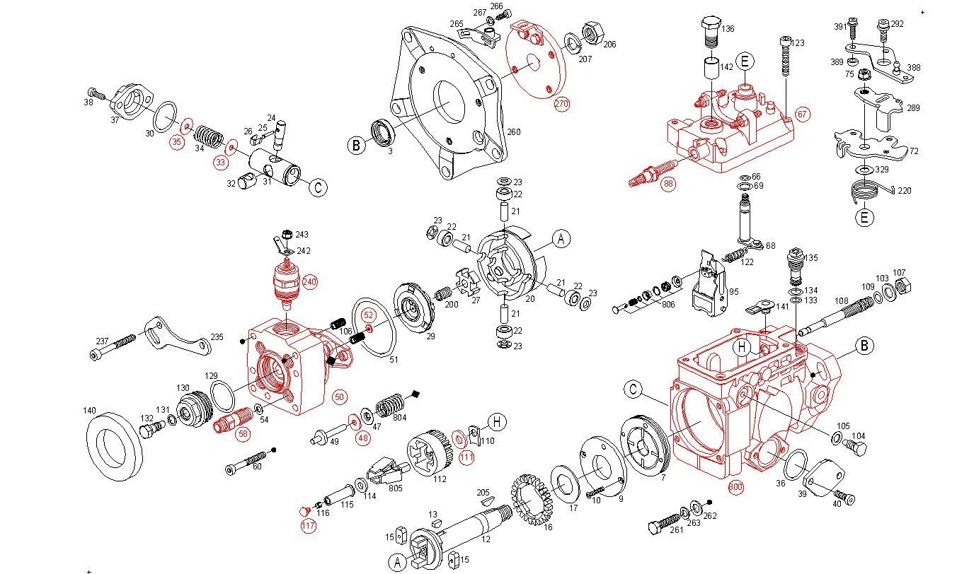 Pochette De Joint Pompe Injection Bosch Ve Autodiesel13