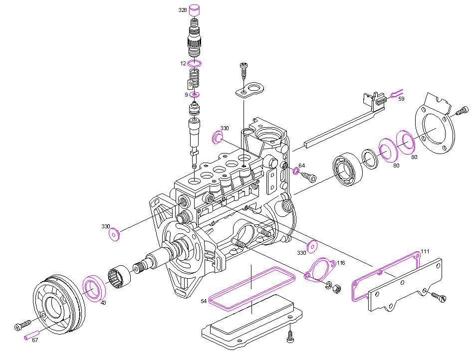 pochette de joint pompe en ligne mercedes autodiesel13. Black Bedroom Furniture Sets. Home Design Ideas