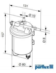 Filtre Diesel complet RENAULT CLIO KANGOO