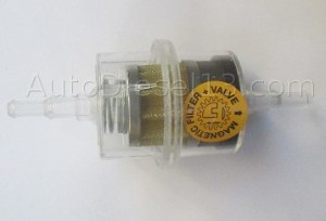 Filtre magnétique + clapet anti-retout 6mm et 8mm